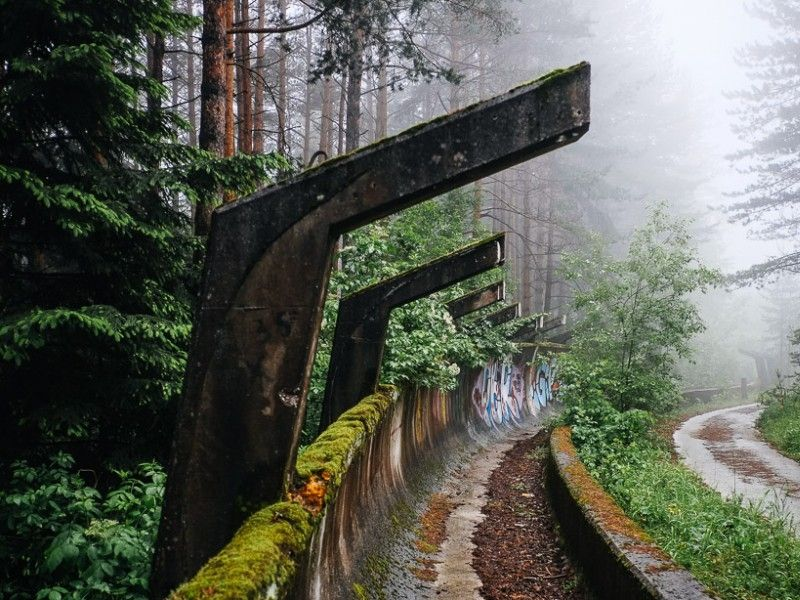 illustration of Abandoned Olympic Bobsled Track #1