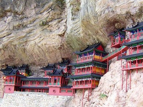 illustration of Hanging Monastery #1