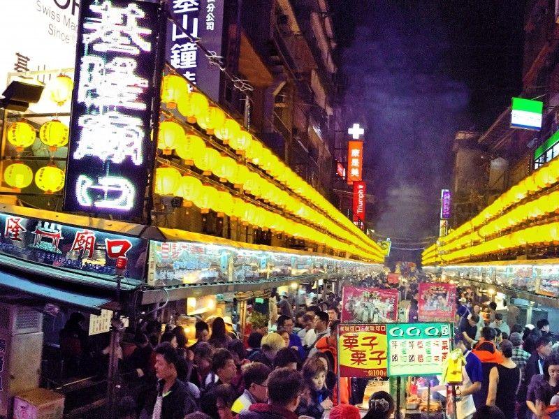 illustration of Keelung Night Market #1