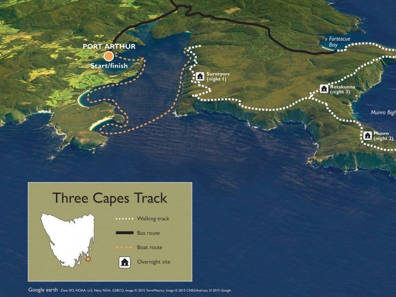 illustration of Three Capes Track #3