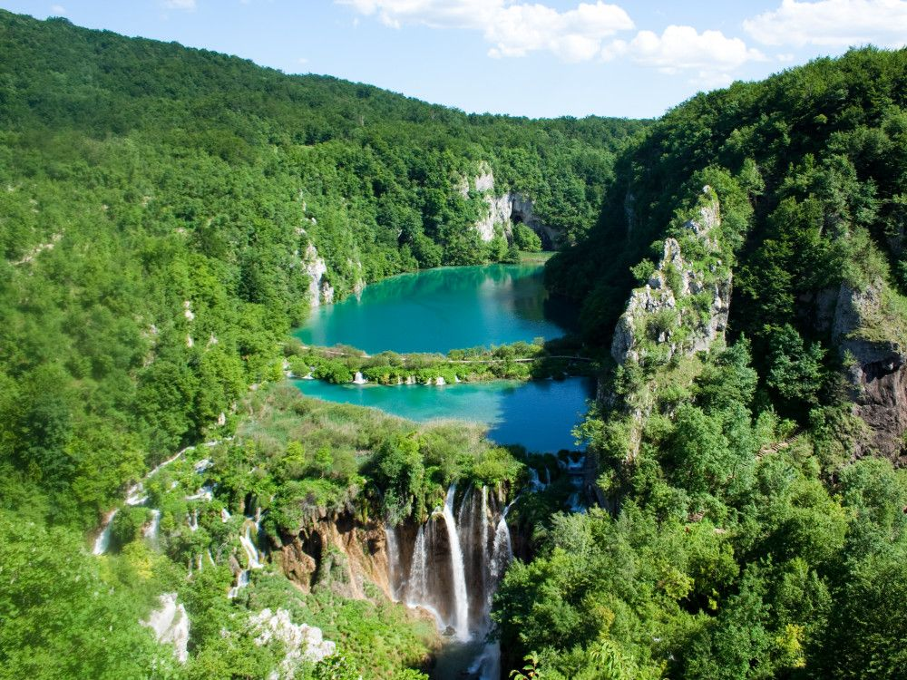 illustration of Plitvice Lakes #1