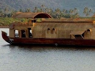 illustration of House Boat in Chapora River #1