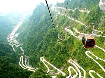 illustration of Ride the Tianmen Shan Big Gate Rd #2
