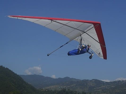 illustration of Hang Gliding in the Himalayas  #3