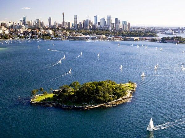 illustration of Sydney Harbour Islands #1