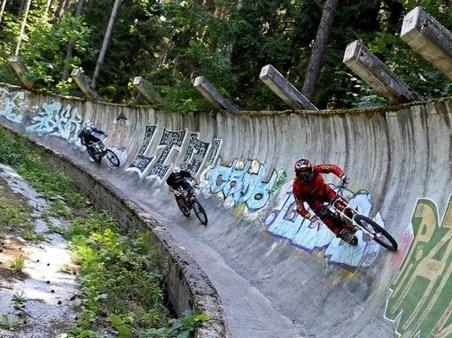illustration of Abandoned Olympic Bobsled Track #4