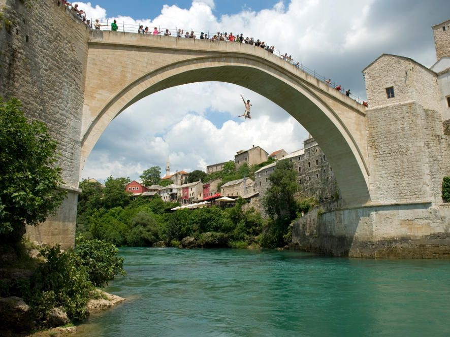 illustration of Diving Mostar Bridge #1