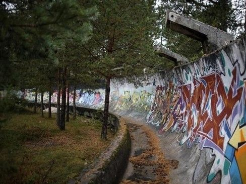 illustration of Abandoned Olympic Bobsled Track #3