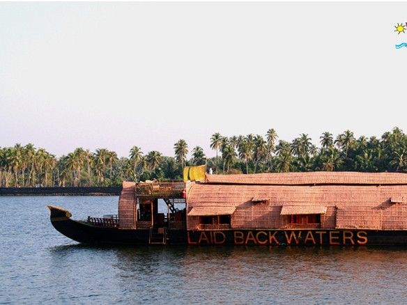 illustration of House Boat in Chapora River #3