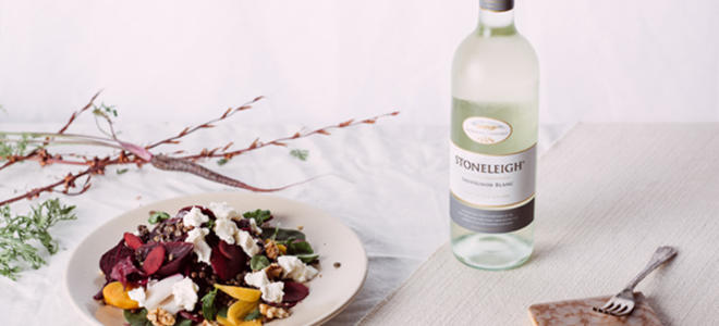 Food Pairing - Beetroot, Fetta & Walnut salad with Stoneleigh Sauv Blanc