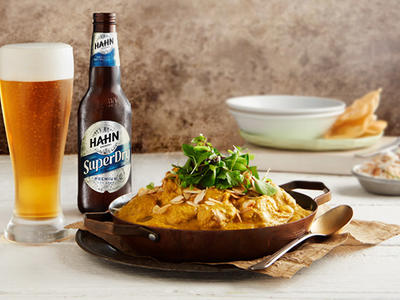 Food Pairing - Chicken and Almond Curry with Hahn Super Dry