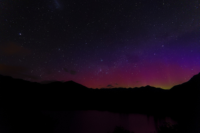 Southern Borealis not well known about, but great view from a campervan hired in New Zealand