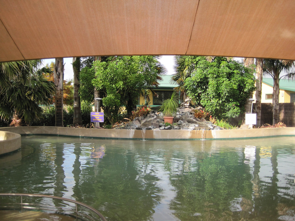 Miranda hot springs in New Zeland
