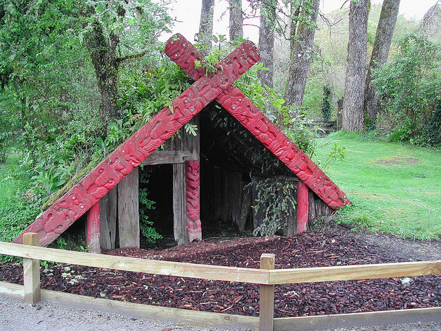 Tamaki Maori Village, New Zealand  - a popular stop for campervan renters