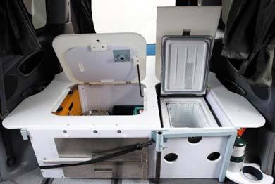 Spaceships Beta campervan kitchen