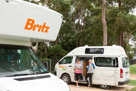 Britz campervan hire selection of vehicles