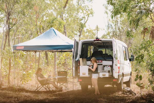 Britz Scout 4wd campervan - great for dirt road travel