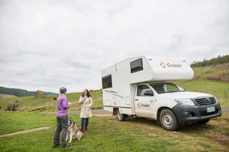 The Sandpiper campervan for hire from Cruisin Motorhomes