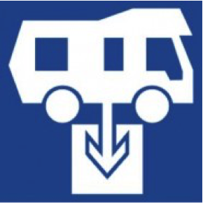 Campervan or motorhome Dump Point sign in New Zealand