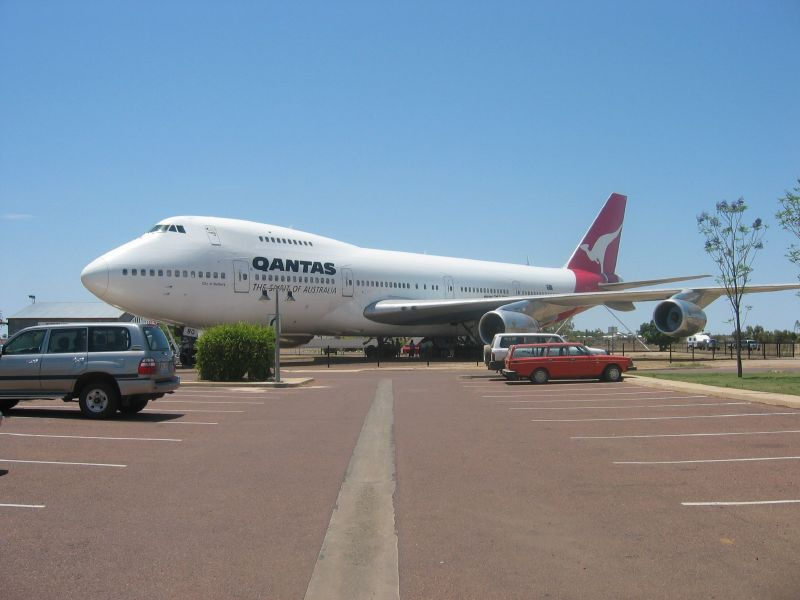 Take the campervan right up to the plane at Longreach