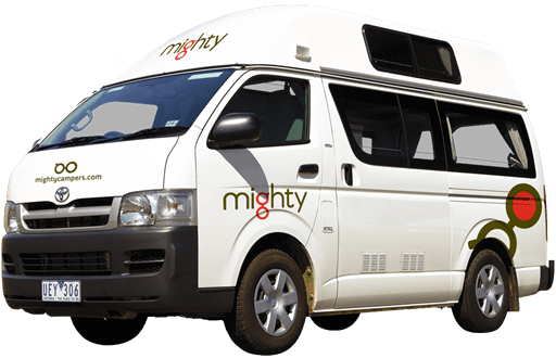 Mighty Campers 2 berth hi-top campervan for hire