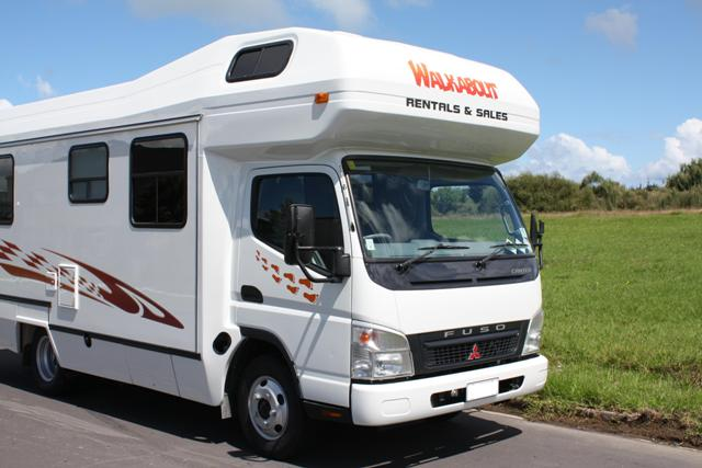Fuso 4 berth motorhome for hire from Walkabout Rentals New Zealand