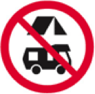 No Camping sign New Zealand - this includes no parking the campervan overnight