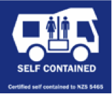 Certified Self Contained campervan icon in NZ
