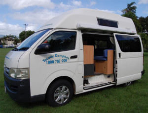 Totally campers hi top campervan 2 berth for hire