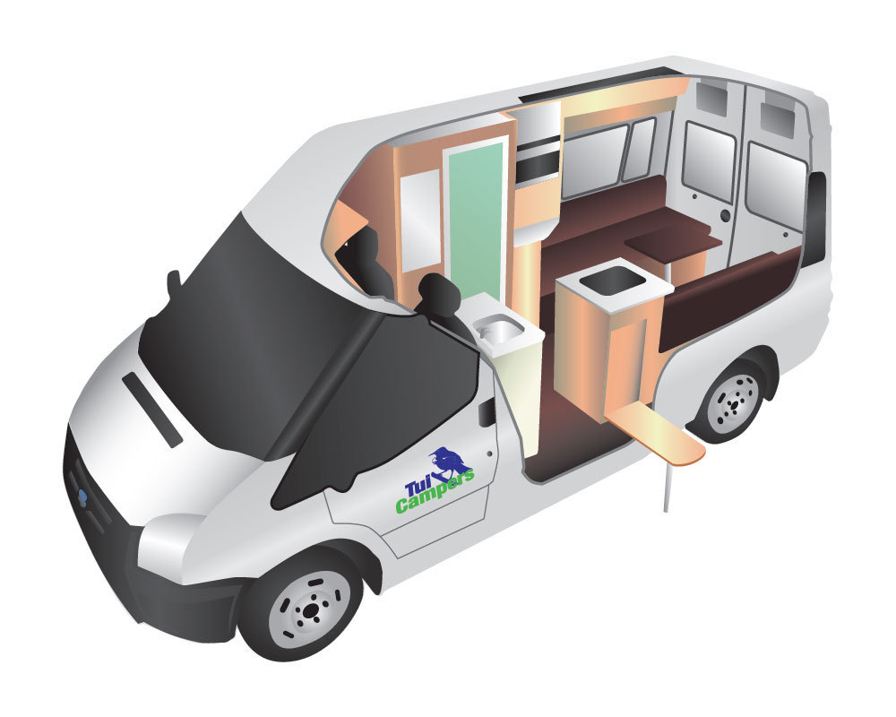Trail Seeker campervan for hire from Tui Campers New Zealand