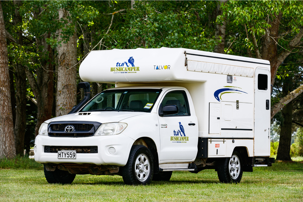 Bush Camper campervan for hire from Tui Campers New Zealand