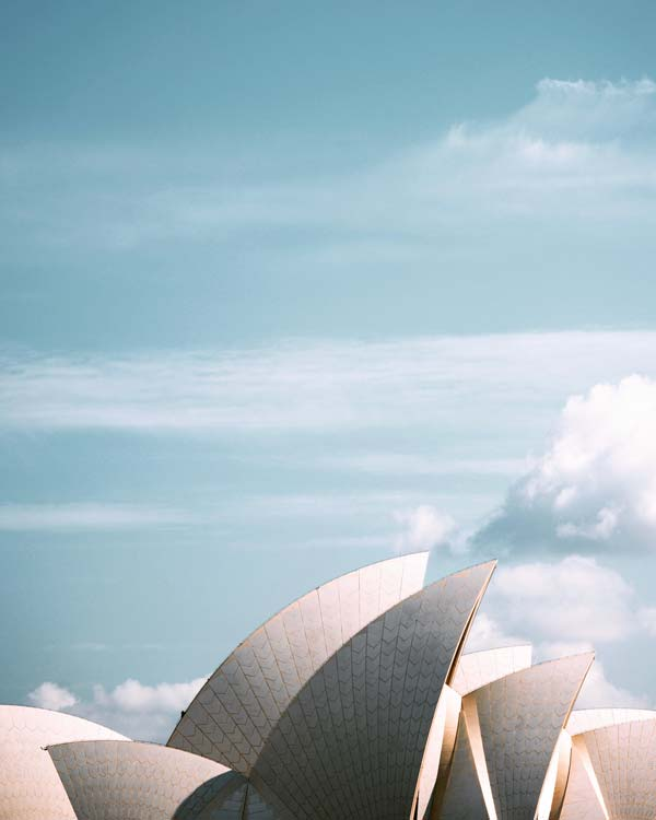 Not every sail in Sydney is on a yacht - Sydney Opera House