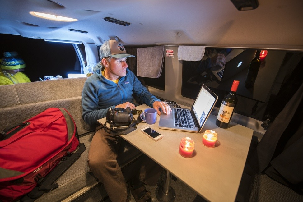 Mavericks campervan Interior