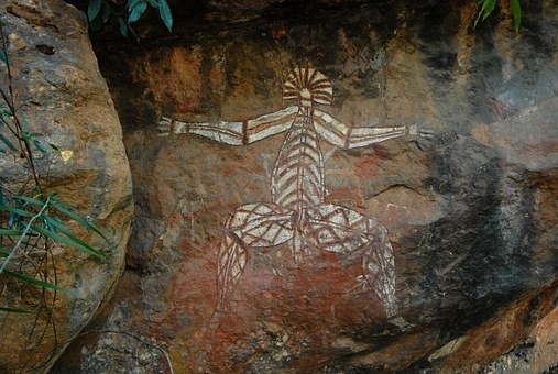 Check out 40,000 year old art work in Kakadu with your 4wd campervan hire