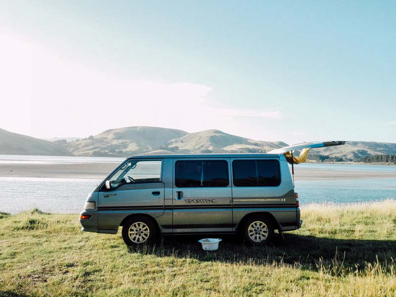 Freedom camping in New Zealand with a hired campervan