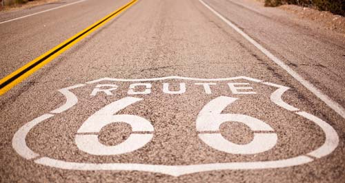 Route 66 and RV rental holiday dream road