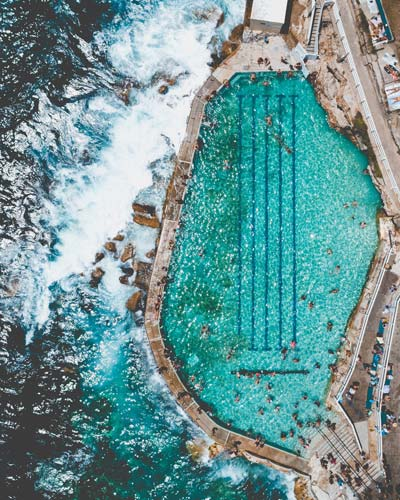 Take the campervan to Bronte ocean pool for a swim