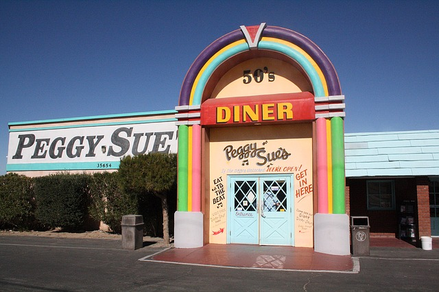 Peggy Sues Diner is a must stop for a meal on the road trip