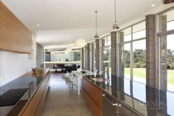 Minimalist geometric kitchen in Desert Modern home