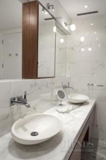 Contemporary, marble bathroom by Leonnie Von Sturmer. Image: 5