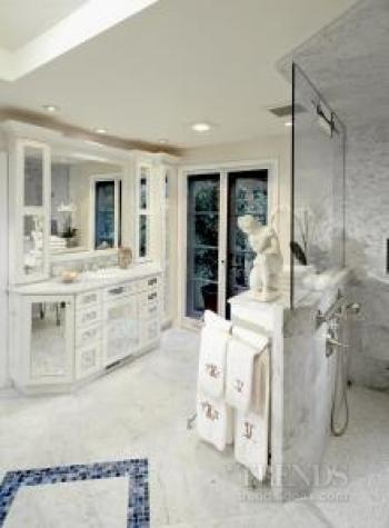 Classical, ornate marble bathroom by DeWitt Designer Kitchens