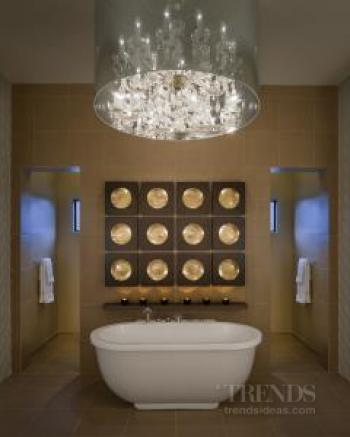 A jewel-like modern master bathroom by Angelica Henry