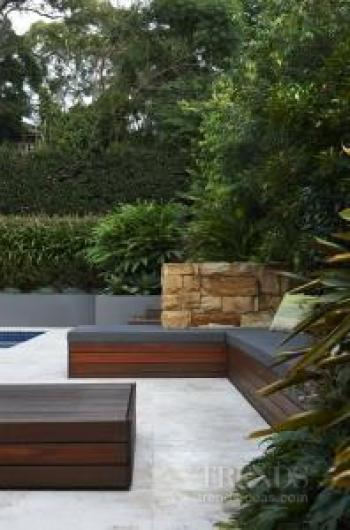 Outdoor entertaining by the pool