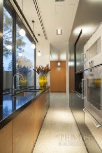 Glossy modern entertainers kitchen