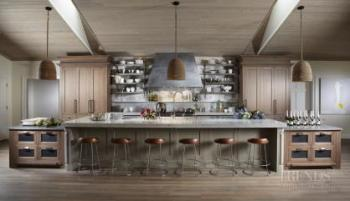 Natural, organic materials for kitchen in beach house