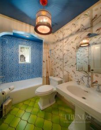 Two small contemporary bathrooms
