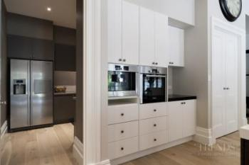 Traditional meets modern kitchen with large butler's pantry