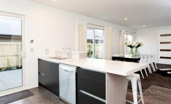 Contemporary show home with Smeg kitchen appliances