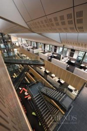 Tyree Energy Technologies Building University of New South Wales with student commons, central atrium