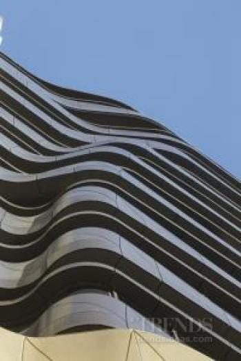 Contemporary apartment building in Sydney designed with parametric modelling